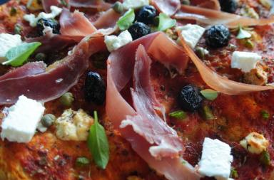 pizza au bellota