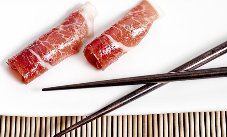 Recette de Sushi au jambon ibérique cebo