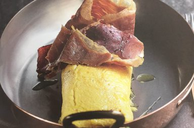 Omelette au jambon ibérique